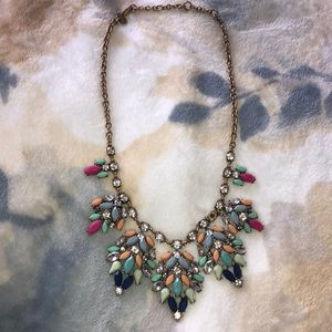 J. Crew fun and sparkly multi colored necklace
